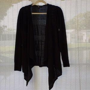 AB Studio Shawl Front Sweater